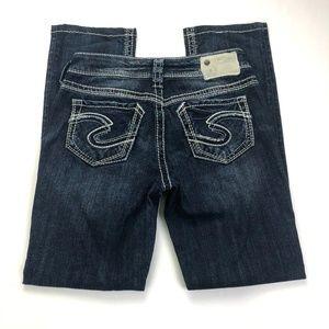 Silver Jeans Suki Straight 27W 30L (Act 28W 29L)